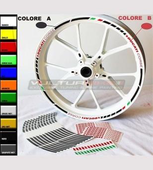 Profili adesivi personalizzati Ducati Corse per ruote