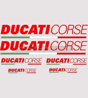 6 adesivi colorati Ducati Corse