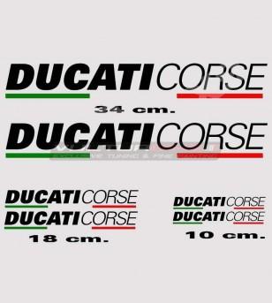 6 adesivi colorati Ducati...