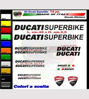 14 colored Ducati Superbike stickers