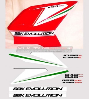 Adesivi carene laterali grafica tricolore - Ducati 848/1098/1198/S/R/SP/Evo