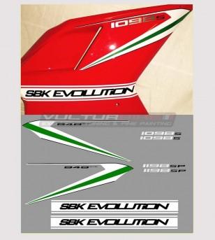 Adesivi carene laterali Superbike evolution - Ducati 848/1098/1198/S/R/SP/Evo