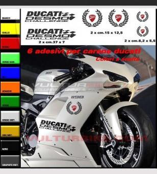 Adesivi desmo challenge corona alloro scudetto Ducati