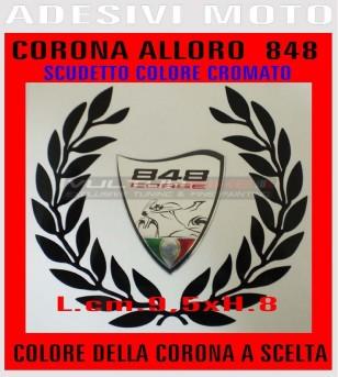 Pegatinas de corona de laurel personalizadas - Ducati 848/1098/1198