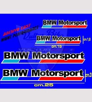 4 Adesivi BMW Motorsport 2 misure