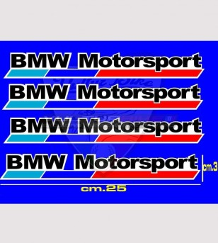 4 BMW Motorsport stickers large