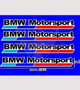 4 Adesivi BMW Motorsport grandi