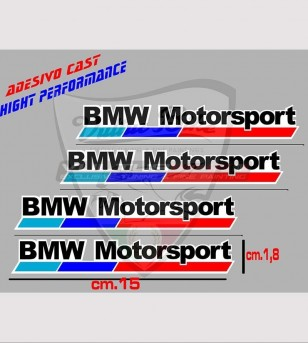 4 BMW Motorsport stickers small