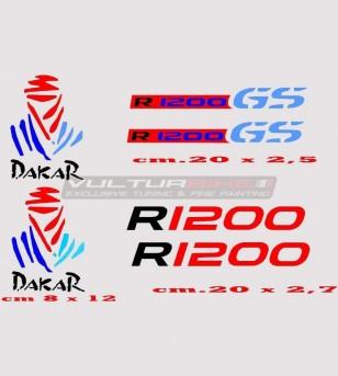 Adesivi R1200 GS DAKAR -...