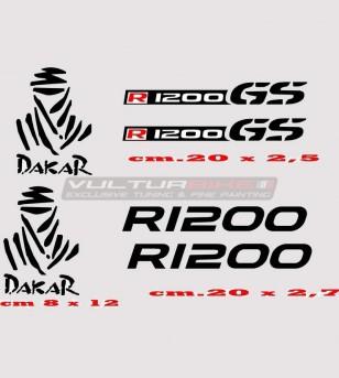 Adesivi R1200 GS DAKAR colori a scelta - BMW R1200 GS