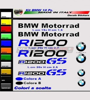 10 adesivi personalizzabili - BMW R1200 GS / Motorrad