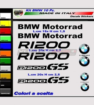 10 colored stickers - BMW...