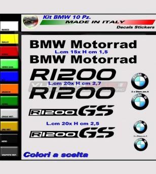 10 adesivi colorati - BMW R1200 GS / Motorrad