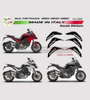 Pegatinas de tanque - Ducati Multistrada 1260/1200/950/DVT