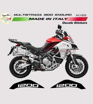 Pegatinas de tanque - Ducati Multistrada 1200 Enduro