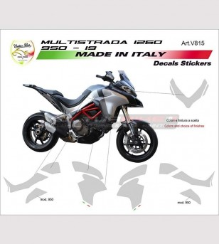 Kit adesivi grafiche personalizzate - Ducati Multistrada 1260/1200/950