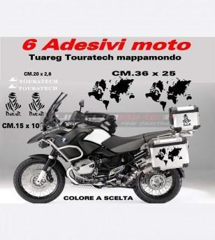 Pegatinas tuareg touratech globo - BMW R1200 GS