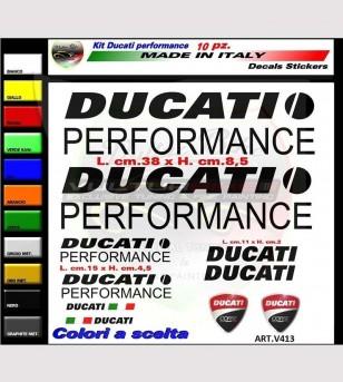 10 adesivi colorati Ducati Performance