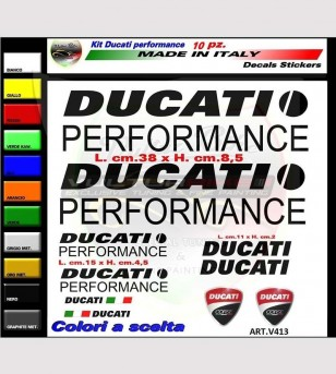 10 coloridas pegatinas Ducati Performance