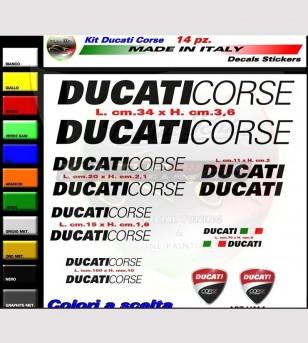 14 adesivi colorati Ducati Corse