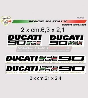 Adesivi 90° Anniversary Ducati taglia media