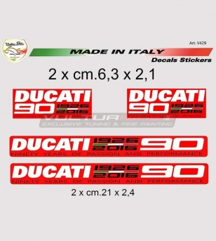 Aufkleber 90° Jubiläum Ducati mittlerer Größe