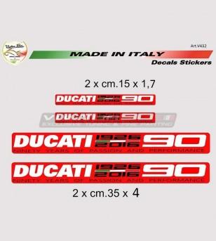 Aufkleber 90° Jubiläum Ducati große Größe