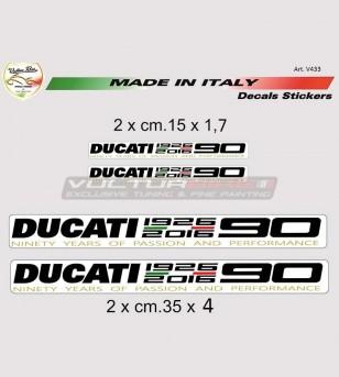 Adesivi 90° Anniversary Ducati taglia grande