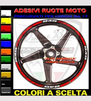 Customizable profile stickers for wheels - Ducati 848/1098/1198/S/R/SP/EVO