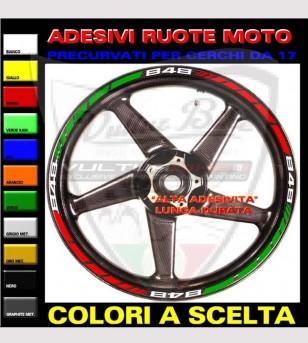 Pegatinas de rueda de diseño tricolor - Ducati 848/1098/1198/S/R/SP/EVO