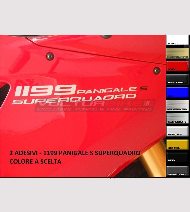 Colored stickers for side panels 1199s - Ducati Panigale 899/959/1199/1299
