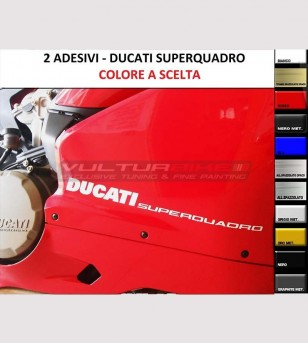 Colored Superquadro stickers for side panels - Ducati Panigale 899/959/1199/1299