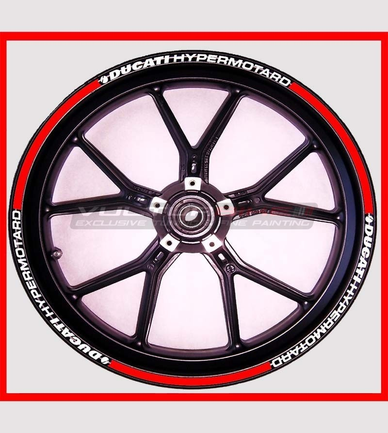 Customized adhesive stickers for wheels - Ducati Hypermotard