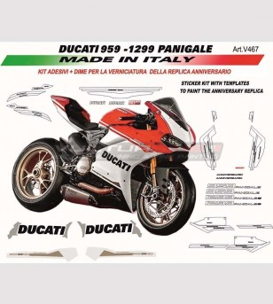 Anniversary replica stickers' kit with templates - Ducati Panigale 1299/959/899/1199