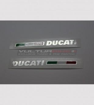 Autocollants colorés pour queue de cochon - Ducati Panigale 899 / 1199 / 1299 / 959 / V2 2020