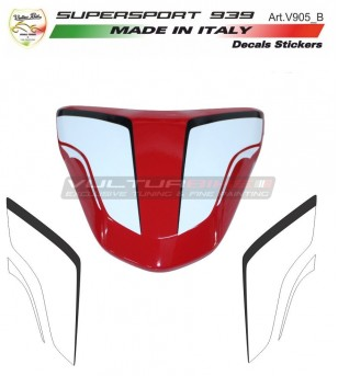 Tail's number plate stickers - Ducati Supersport 939