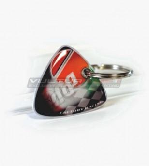 Bi-facial resinated key ring - Ducati