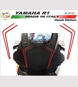 Sticker Strips Front Fairing - Yamaha R1 2015-2018