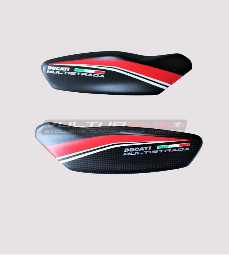 HAND GUARDS UPPER CARBON DUCATI MULTISTRADA 950 1200 DVT ENDURO HANDGUARDS