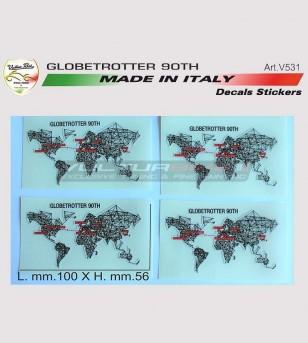 Globetrotter 90 TH kit de pegatinas - Ducati Multistrada 1200/1260