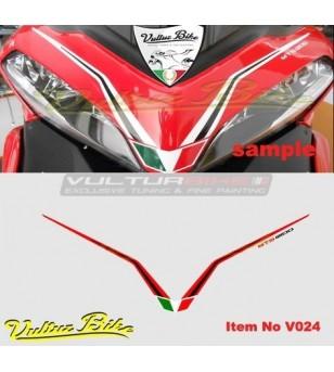 Adesivo per cupolino rossonero - Ducati Multistrada 1200 2010/2014