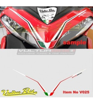 Sticker for front fairing white red - Ducati Multistrada 1200 2010/2014