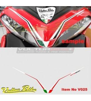 Pegatina domo rojo y blanco - Ducati Multistrada 1200 2010/2014