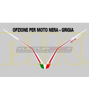 Adesivo per cupolino biancorosso - Ducati Multistrada 1200 2010/2014