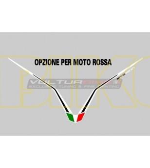 Adesivo per cupolino bianconero - Ducati Multistrada 1200 2010/2014