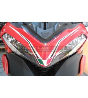 Pegatina domo en blanco y negro - Ducati Multistrada 1200 2010/2014