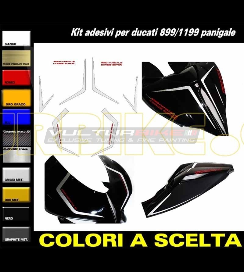 Front fairing and tail's stickers Corse Edition - Ducati Panigale 899 / 1199 / 959 / 1299