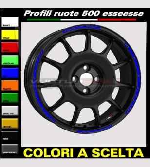 Profili adesivi per ruote auto Fiat 500 esseesse