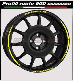 Perfiles adhesivos para ruedas de coche Fiat 500 esseesse