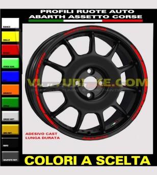 Profili adesivi per ruote auto Fiat abarth